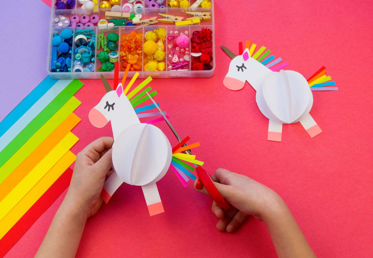 unicorn paper craft