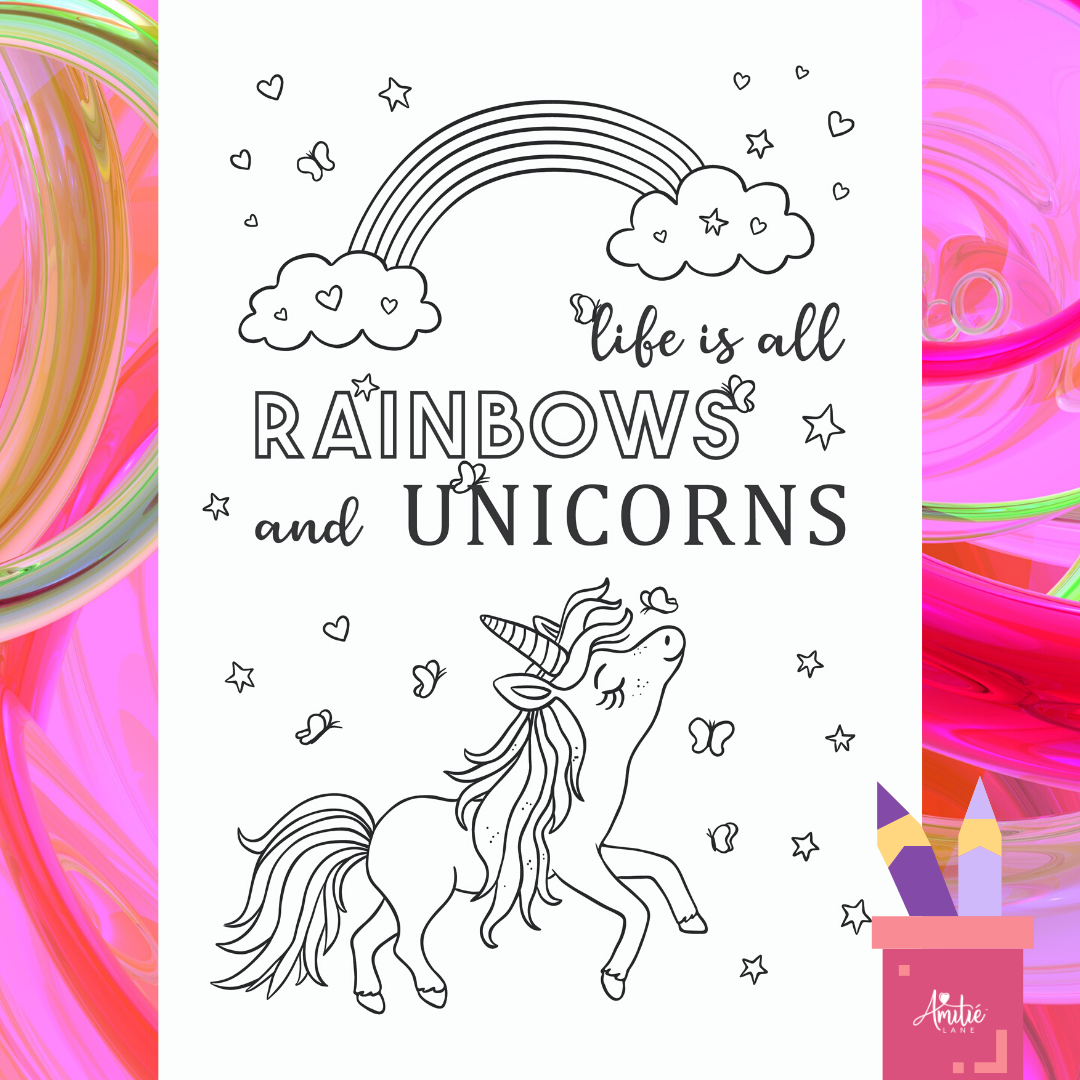 Itsy Unicorn_Free Printable Coloring