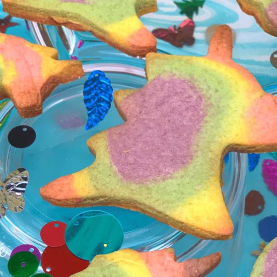 Rainbow Unicorn Cookies