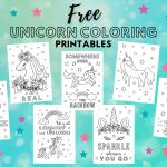 Free unicorn coloring printables