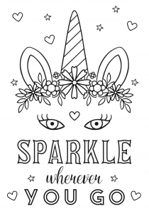 Free unicorn coloring printables_02