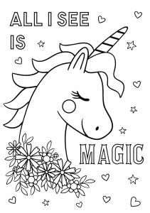Free unicorn coloring printables_03
