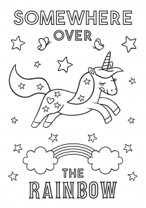 Free unicorn coloring printables_04