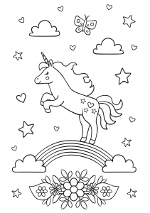 Free unicorn coloring printables_05